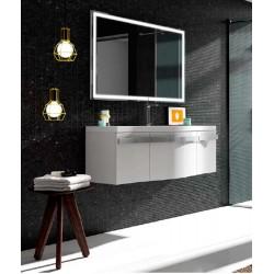 Mueble de baño Dune de 120 cms blanco brillo