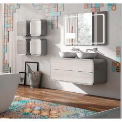 Mueble de baño Onix en blanco y olmo