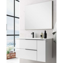 Mueble de baño Oban lacado blanco brillo
