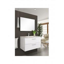 Mueble de baño Mallorca lacado blanco brillo