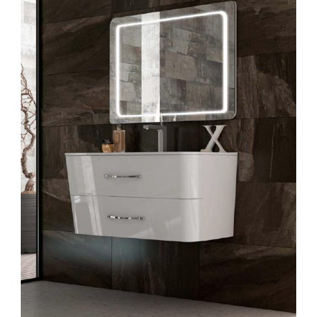 Mueble de baño Moon blanco brillo