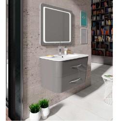 Mueble de baño Moon en gris brillo